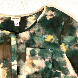 {merona} sheer watercolor tunic